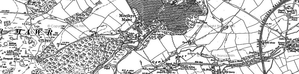 Old map of Merthyr Mawr in 1913