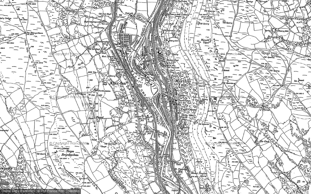 Old Map of Merthyr Vale, 1898 in 1898