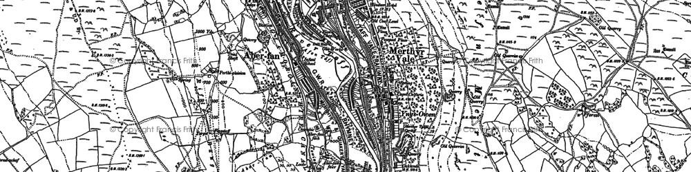 Old map of Merthyr Vale in 1898