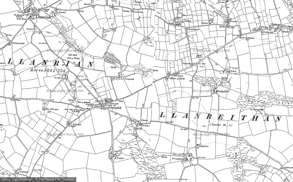 Old Map of Historic Map covering Croes-goch in 1906