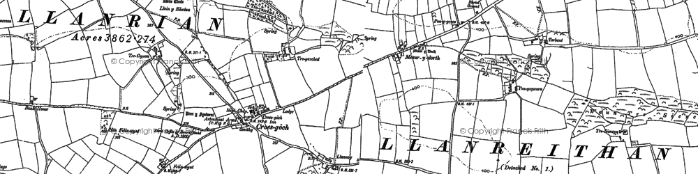 Old map of Croes-goch in 1906