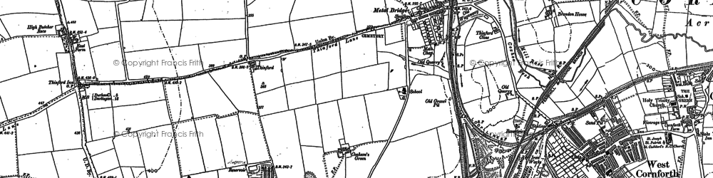 Old map of Metal Bridge in 1896