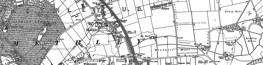Old map of Wood Row in 1890