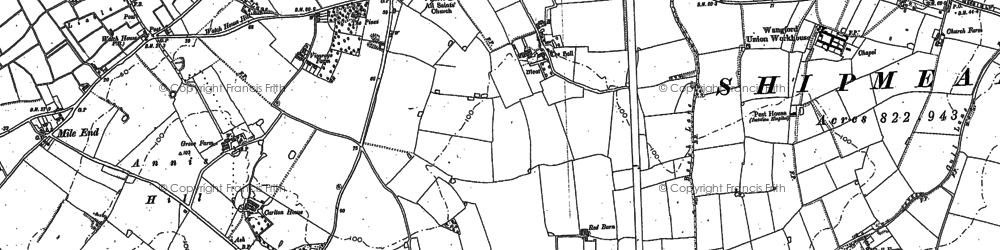 Old map of Mettingham in 1903