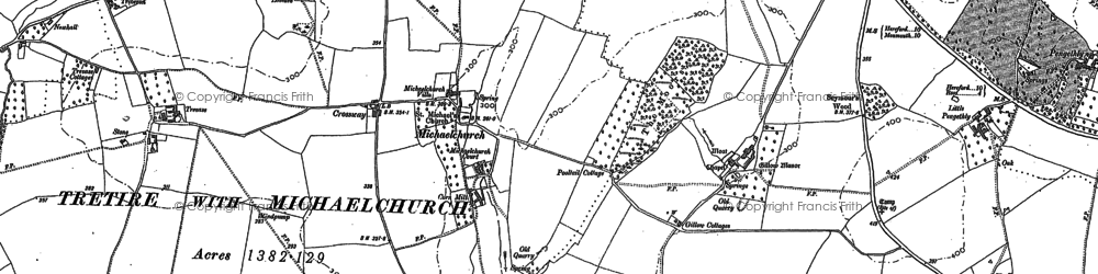 Old map of Audit's Br in 1887