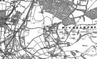 Old Map of Michelmersh, 1895