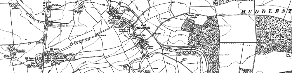 Old map of Woodlands in 1890