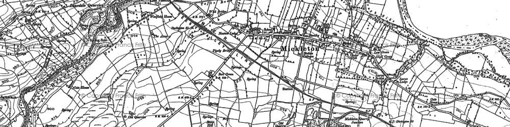 Old map of Bail Green in 1892
