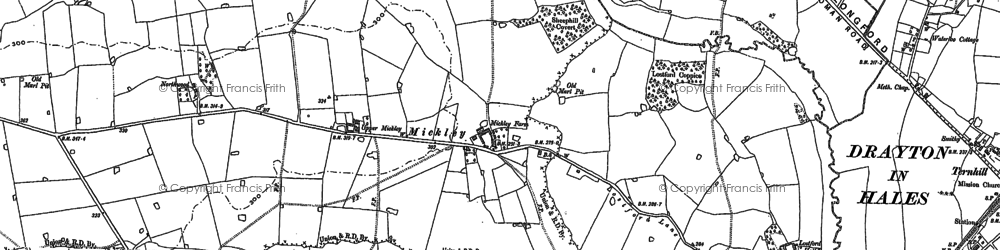 Old map of Bailey Brook in 1880