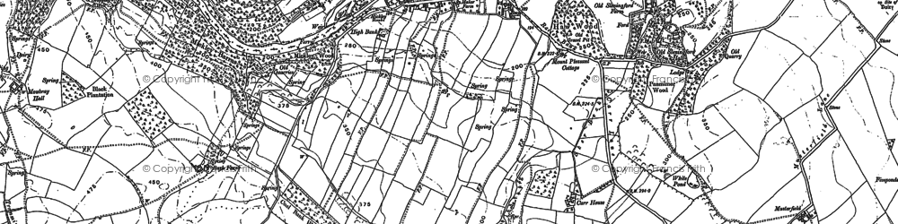 Old map of Westfield in 1890