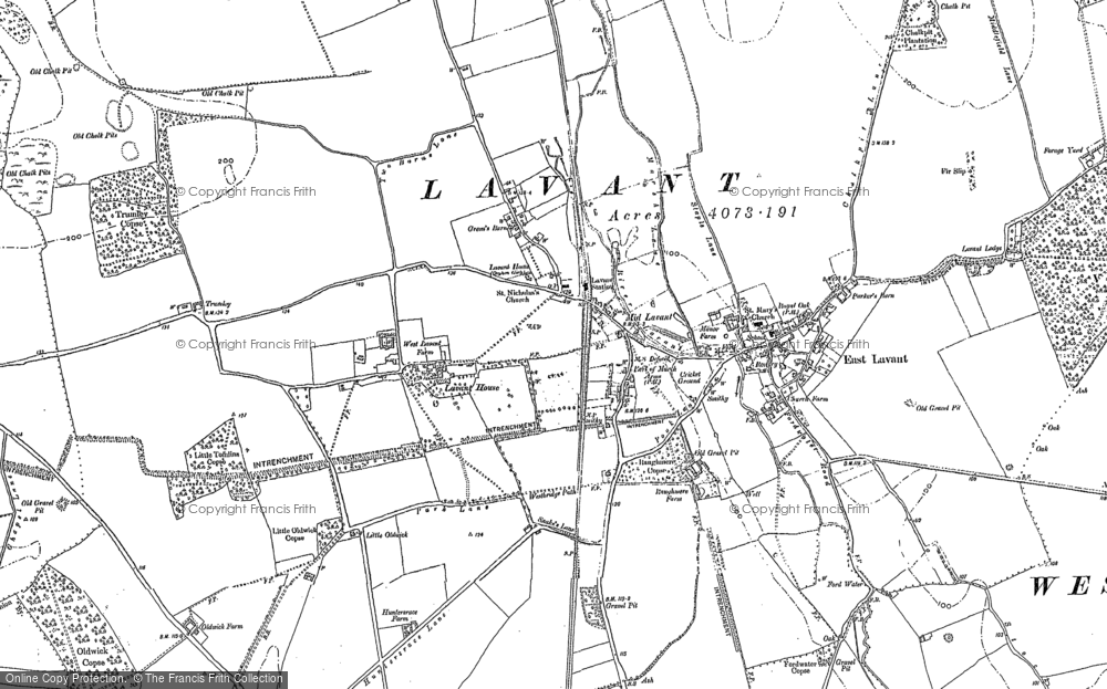 Old Map of Historic Map covering Lavant Ho (Sch) in 1896