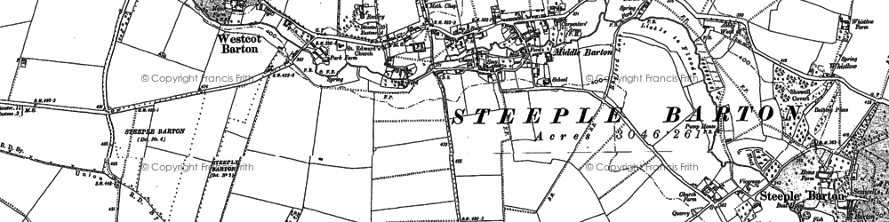 Old map of Worton Wood in 1898