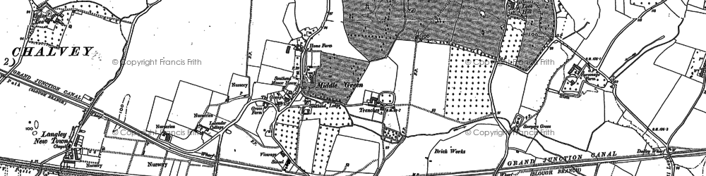 Old map of Middle Green in 1897