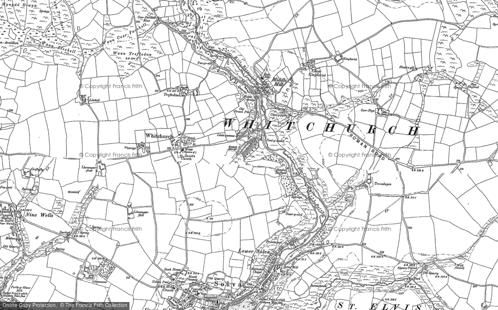 Old Map of Middle Mill, 1906 in 1906