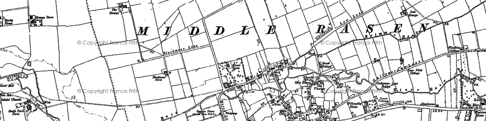 Old map of Middle Rasen in 1885