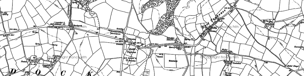 Old map of Middle Taphouse in 1881