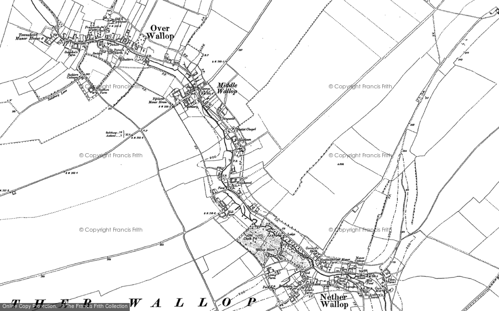 Old Map of Middle Wallop, 1894 in 1894