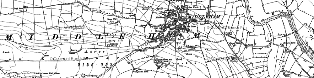 Old map of William's Hill (Motte & Bailey) in 1891