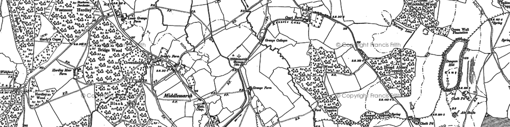 Old map of Tiley in 1887