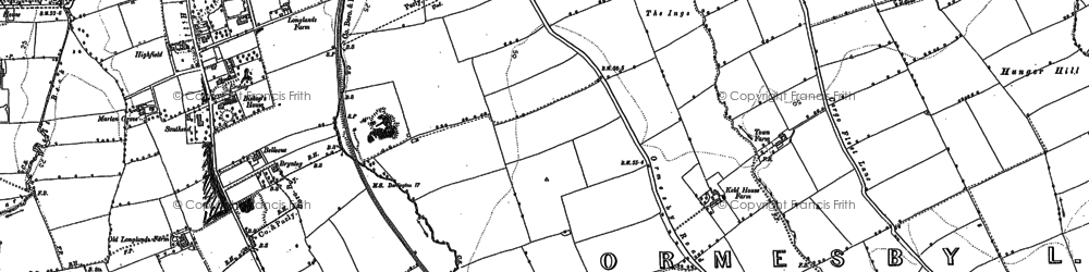 Old map of Berwick Hills in 1892