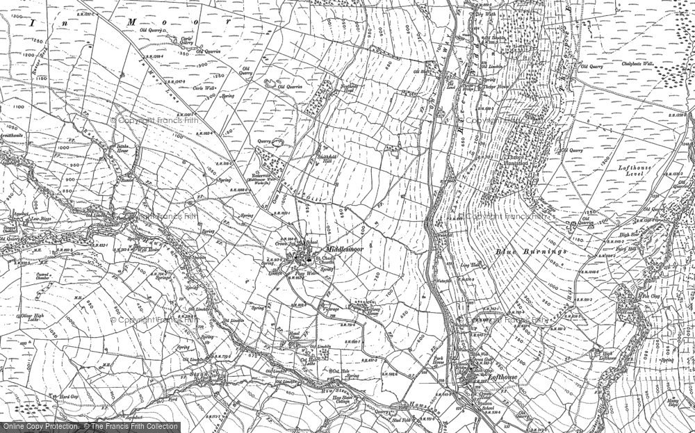 Old Map of Historic Map covering Thwaite Ho in 1890