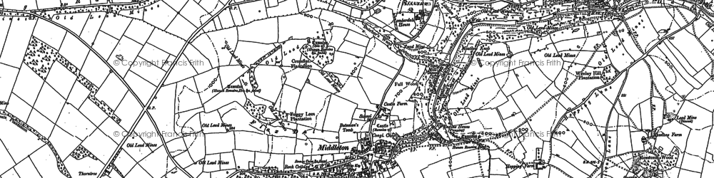 Old map of Arbor Low in 1878