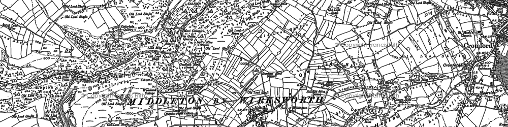 Old map of Rise End in 1879