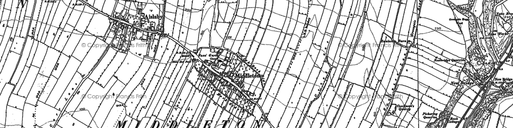 Old map of Aislaby Carr in 1890