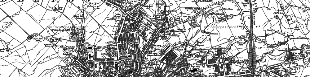 Old map of Alkrington Garden Village in 1891