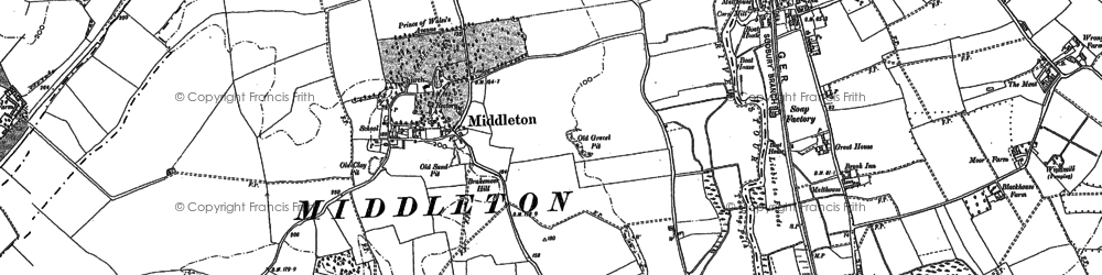 Old map of Middleton in 1896