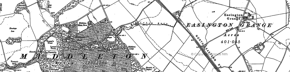 Old map of Tilesheds Wood in 1897