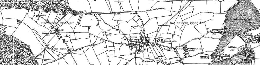 Old map of Langley Brook in 1901