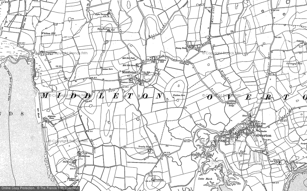 Old Map of Middleton, 1910 - 1931 in 1910 - 1931