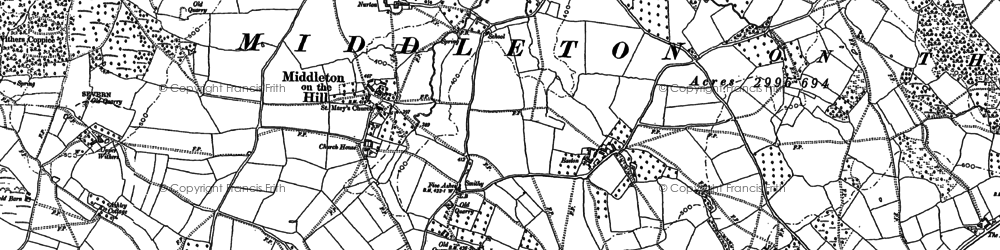 Old map of Wood Sutton in 1885