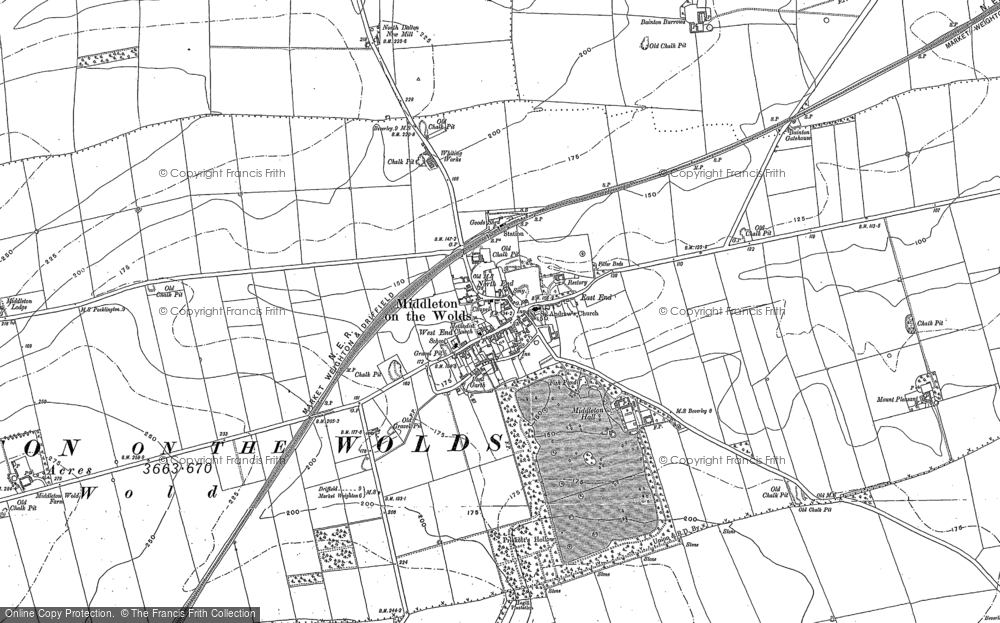Old Map of Historic Map covering East Riding of Yorkshire in 1890