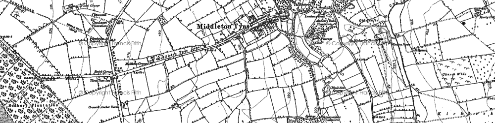 Old map of Middleton Tyas in 1892