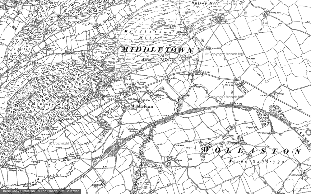 Old Maps of Middletown Francis Frith