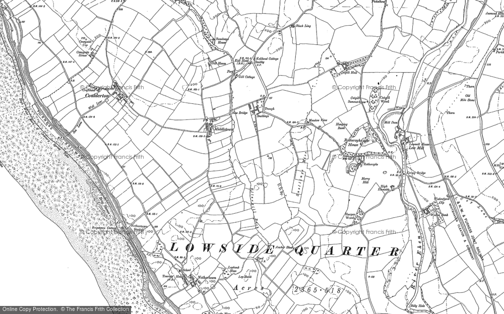 Old Map of Historic Map covering Ashley Grove in 1922