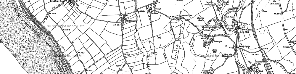 Old map of Ashley Grove in 1922
