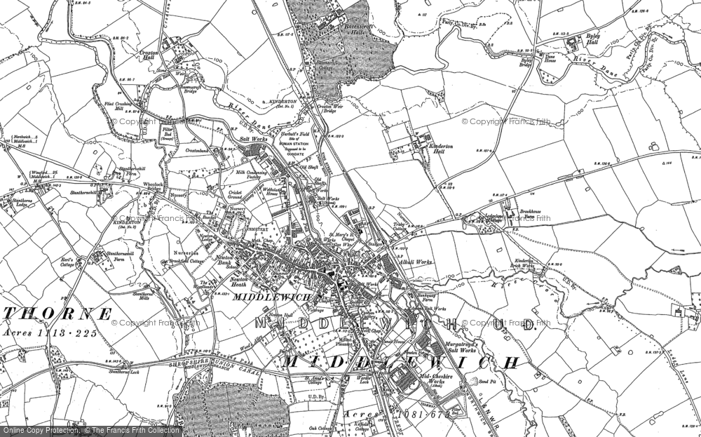 Old Map of Middlewich, 1897 in 1897