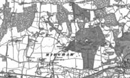 Old Map of Midgham, 1898 - 1909