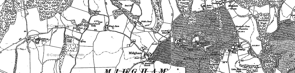 Old map of Woottens in 1898