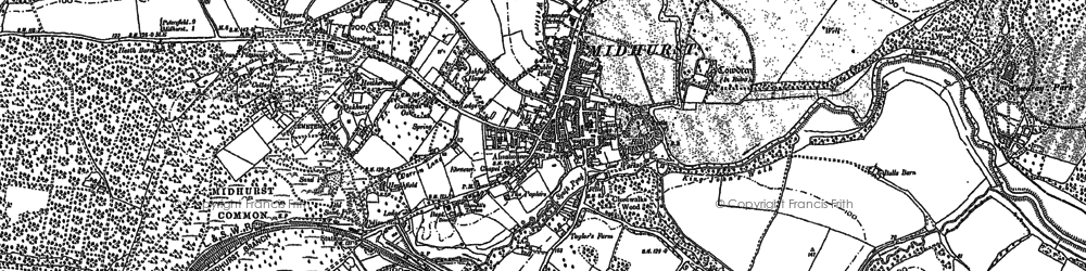 Old map of Midhurst in 1895
