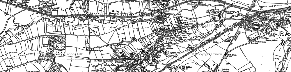Old map of Westfield in 1884