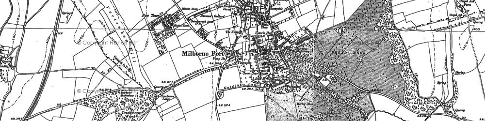 Old map of Milborne Port in 1901
