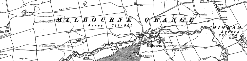 Old map of Westgate in 1895