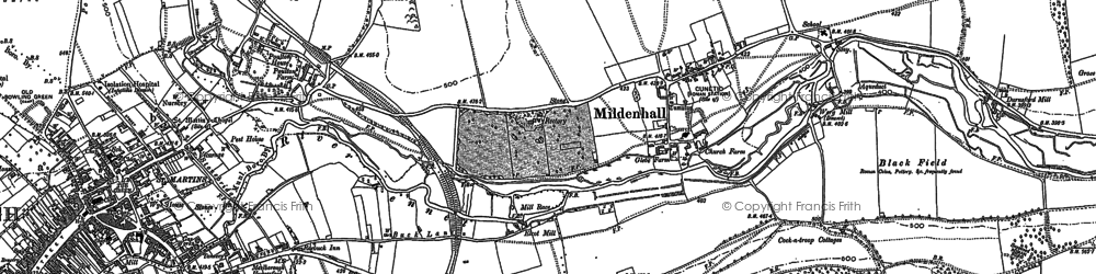 Old map of Forest Hill in 1899