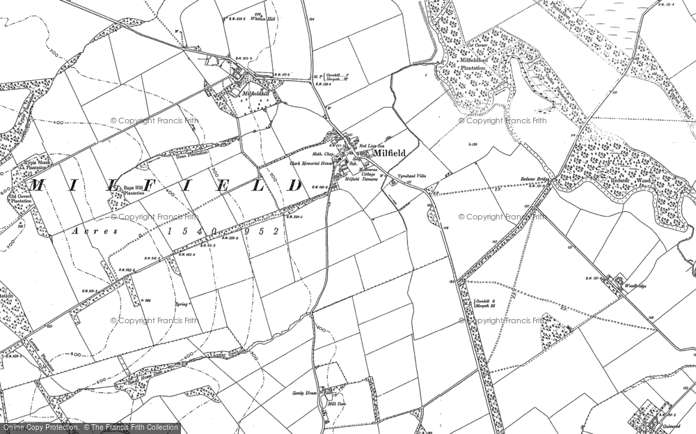 Old Map of Historic Map covering Lanton in 1897