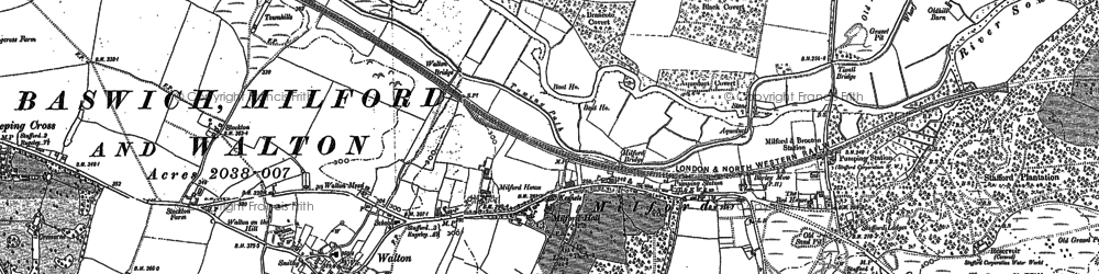 Old map of Milford in 1880