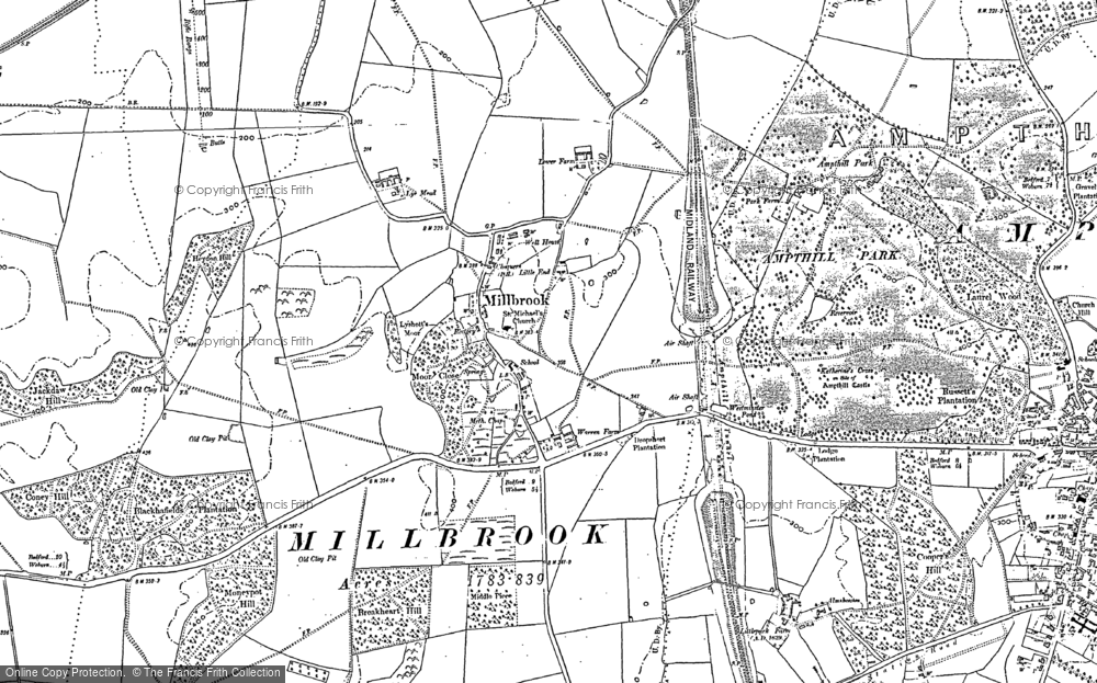 Old Map of Millbrook, 1882 in 1882